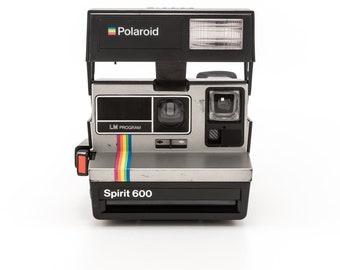 Polaroid Spirit 600 LM Program - film Tested and Working Polaroid 600 - uses Polaroid Originals 600 Instant Film SILVER with rainbow stripe
