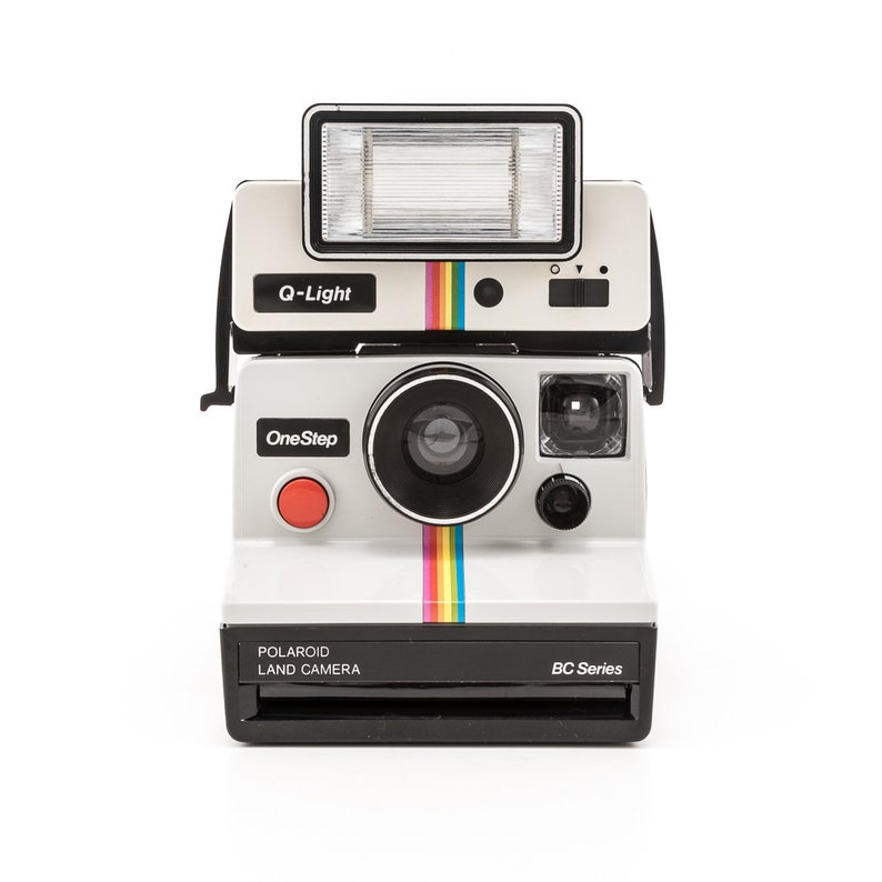 Polaroid OneStep Rainbow SX70 with Q-Light Classic Instant  593a3bf762e