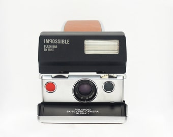 MINT FlashBar For POLAROID SX70 Instant Cameras - SX70 Polaroid Rainbow SX 70 Style Cameras Polaroid Sonar