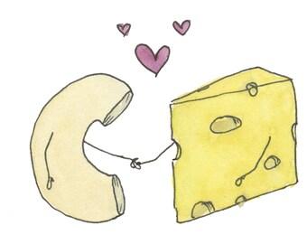 Mac <3 Cheese Greeting Card