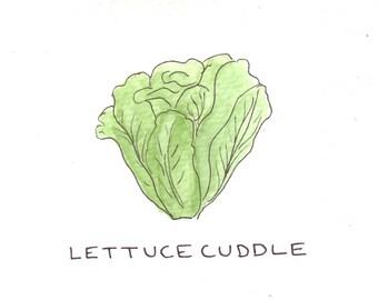 Lettuce Cuddle Greeting Card