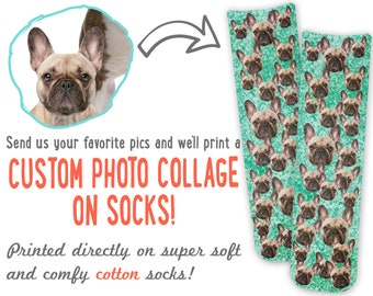 Socks with Dog Faces. Custom Dog Face Socks -Custom Photo Socks, Personalized Socks, Custom Printed Socks, Picture Socks, Pet Parent Gift