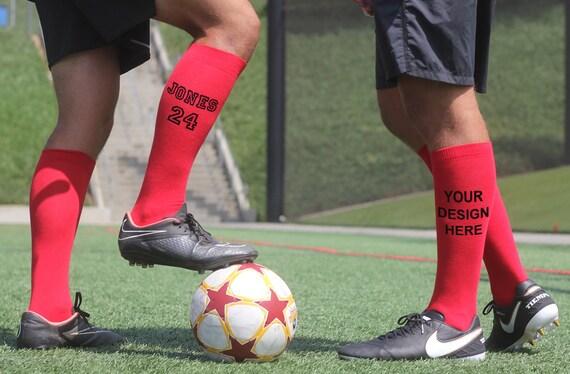 Custom Printed Sport Knee Highs Personalized Sport Socks Add Etsy