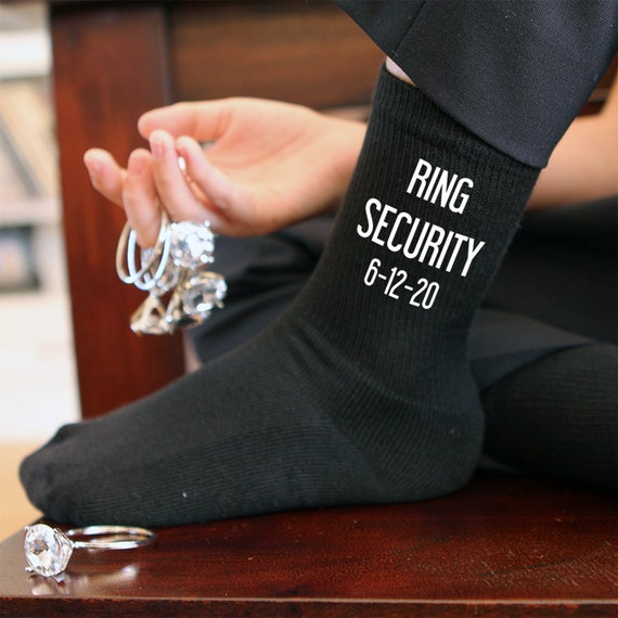 Ring Träger Hochzeit Socken personalisierte Socken mit Namen und Hochzeit Datum Neuheit Socken perfekt Ring Träger Geschenke