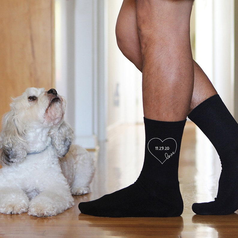 Wedding Socks for the Groom and Wedding Party Personalized image 0