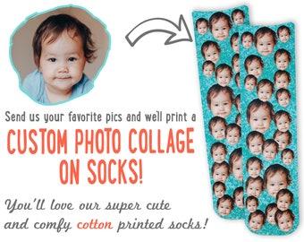 Custom Face Socks -Custom Photo Socks, Custom Socks, Personalized Gifts, Custom Printed Socks, Picture Socks, Photo Gifts, Socks with Faces