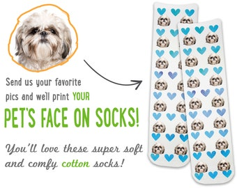Personalized Socks with Photos and Heart Design, Personalized Photo Gifts, Personalized Socks with Your Photos, Face Socks, Photo Socks