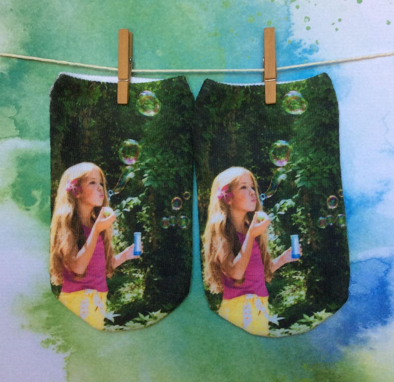 Custom Photo Socks Printed with Your Photos are Fun Face Socks image 0
