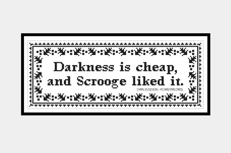 A Christmas Carol Pdf.A Christmas Carol Darkness Is Cheap And Scrooge Liked It Original Cross Stitch Pdf Pattern Instant Download