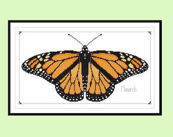 Monarch Butterfly Original Cross Stitch PDF Pattern Instant Download