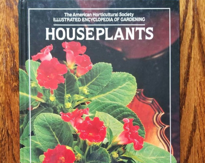 Vintage houseplant book | house plant reference book | how to care for houseplants | indoor garden