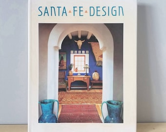 Vintage coffee table book Santa Fe Design published in 1990 | photography book reference book |