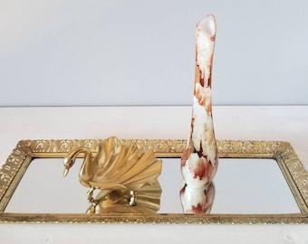 Vintage Opalina Fiorentina bud vase by Stelvia made in Italy | glam decor | art nouveau | Hollywood Regency |