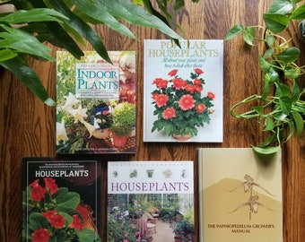 Vintage houseplant book | paphiopedilum growers manual | house plant reference book | lady slipper orchid | venus slipper |