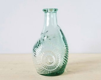 Vintage shell bottle by Libbey glass | vintage glass bottle |