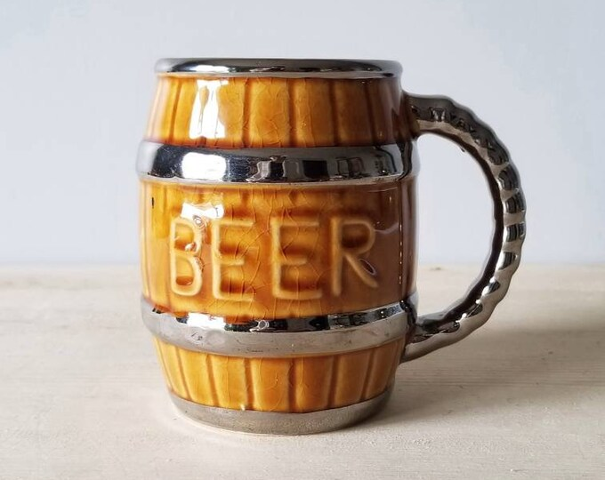 Vintage beer mug   beer stein   Father's Day gift   coffee mug  