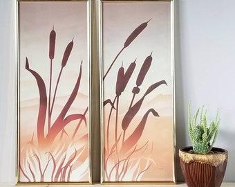 Framed art prints 1980s   eighties diptych  