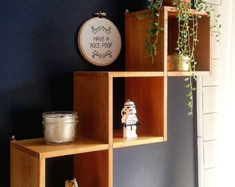 Vintage mid century modern wall shelf | display shelves |