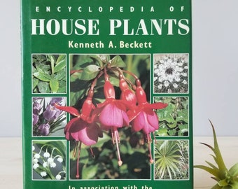 Vintage houseplant book The RHS Encyclopedia of House Plants by Kenneth Becket | plant reference book |