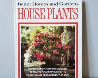 Vintage houseplant book | Better Homes & Gardens House Plants | house plant reference book | how to care for houseplants | indoor garden