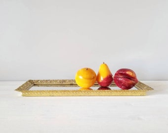 Vintage Italian marble fruit   set of stone fruit   alabaster fruit  