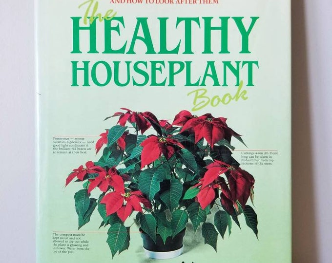 Vintage houseplant book | Indoor plants | the healthy houseplant book | how to care for houseplants | indoor garden