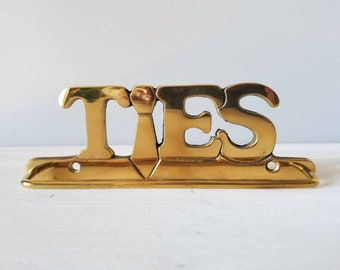 Vintage brass tie holder | new old stock | gift for dad | mens gift | home organization |