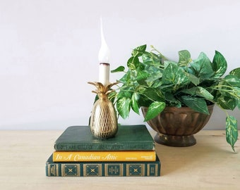 Vintage brass pineapple lamp | accent lamp | home office |