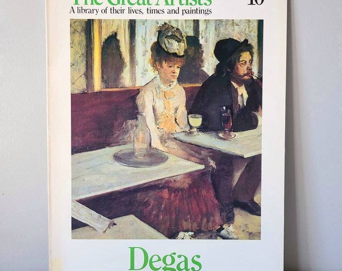 Vintage Degas art book | Art Series | poster book | ballet dancers |