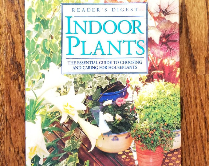 Vintage houseplant book | Indoor plants | house plant reference book | how to care for houseplants | indoor garden