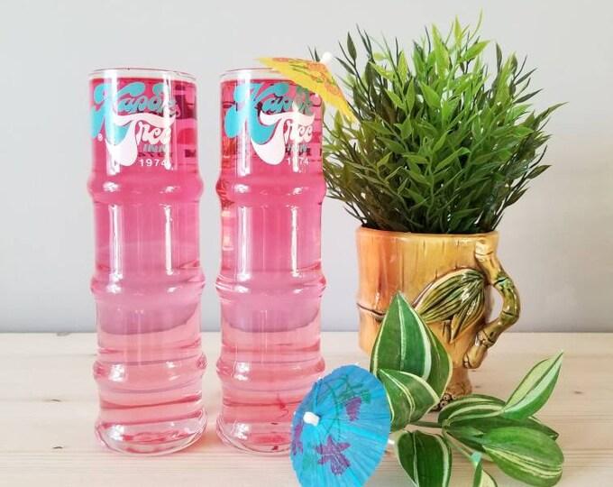 Tropical cocktail glasses tiki bar | Peter Pan Inn Kapok Tree Inn 1974 Maryland |