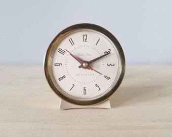 Vintage Westclox Baby Ben alarm clock | retro plug in bedside clock | gift for dad |