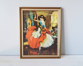 Rico Tomaso framed print of woman dancer | Spanish flamenco dancer |