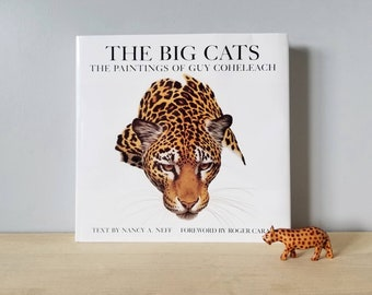 Vintage coffee table book The Big Cats - The Paintings of Guy Coheleach | vintage art book | tigers jaguars leopards jungle cats | wildlife