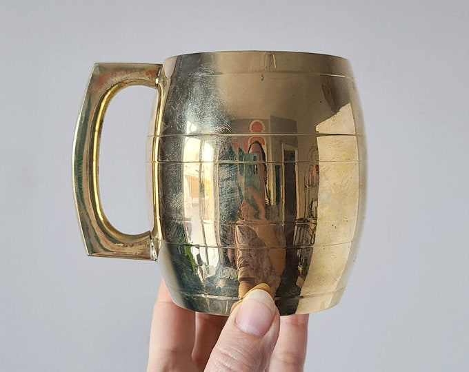 Vintage brass beer mug | beer stein | Father's Day gift | brass cup |