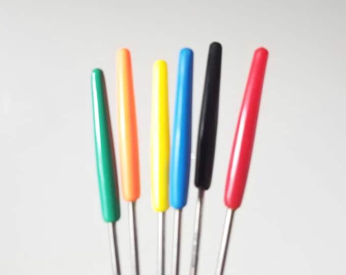 Vintage fondue forks set of 6 | stainless steel forks | multi color | seventies | retro kitchen | bohemian decor |