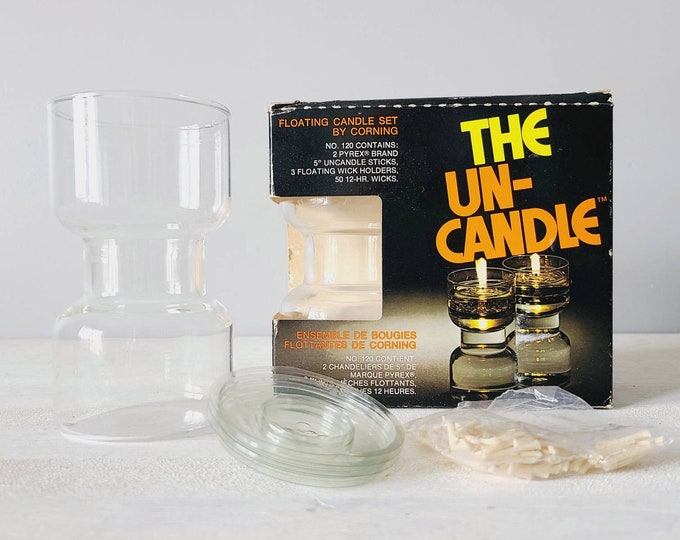 Vintage Un-candle by Corning | floating candle | refillable candles |