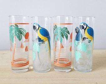 My Table Talk® Set of 4 Acrylic Palm Tree Classic Series 14 Oz DOF Tumbler