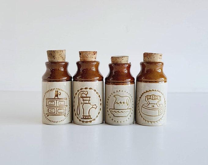 Vintage Beauceware jar set of 4 | made in Quebec Canada | French kitchen | cottage core | ceramic jar set