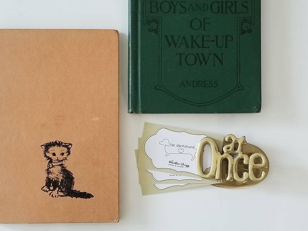 Peachy Vintage Brass Letter Holder Clip Vintage Desk Accessory Beutiful Home Inspiration Xortanetmahrainfo