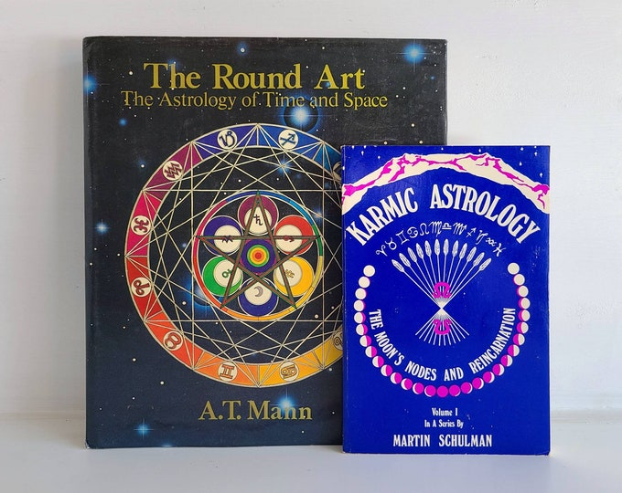 Vintage pair of Astrology books | 70s Astrology books | reference books |