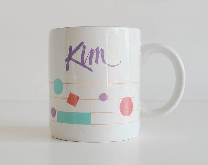 Vintage name coffee mug Kim | gift for coffee lover | 80s mug | coffee cup |