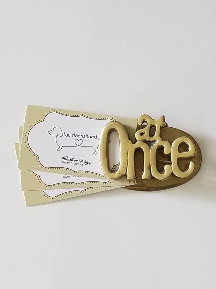 Strange Vintage Brass Letter Holder Clip Vintage Desk Accessory Beutiful Home Inspiration Xortanetmahrainfo