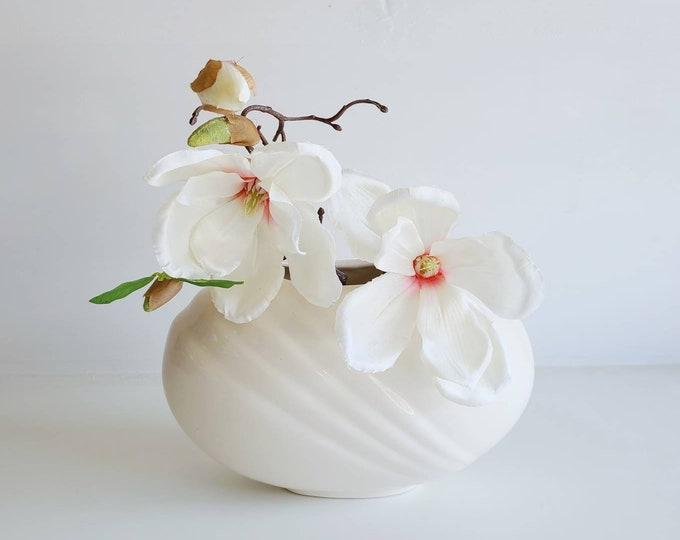 Vintage art deco style eighties vase | art deco revival | post modern | round vase