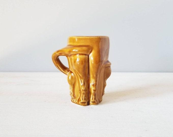 Vintage horses rear end mug | funny mug | gag gift | coffee/tea cup |