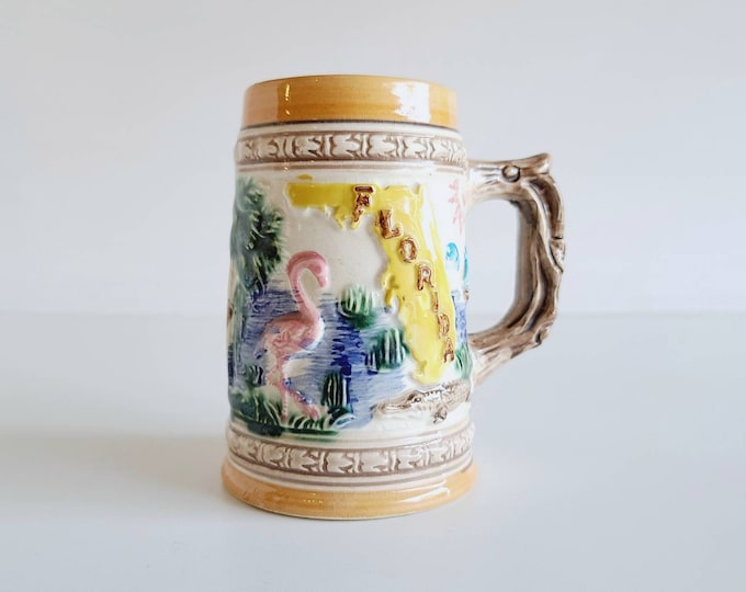 Vintage florida mug | beer stein | eighties mug | Florida mug |