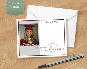 Photo Graduation Thank you Cards, Thank you Cards for Graduation, Personalized Thank You