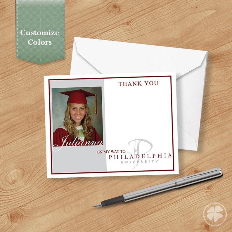 Thank you Cards for Graduation Personalized Thank You Photo Graduation Thank you Cards