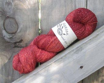 Fall Flicker - Twila - 500 Yards - SW Merino/Lurex - Hand Dyed Fingering Weight Yarn