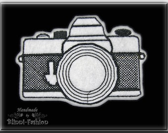 Camera -  patch embroidered, application retro design  Choose size and color, heritage